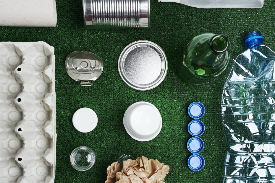 Different kinds of garbage for recycling